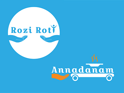 Showcase of Rozi Roti Foundation and Project Annadanam logos